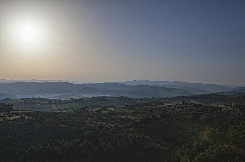 L'alba ed il paesaggio