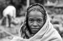 Woman selling coal