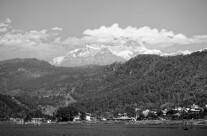 Anapurna vista dal lago