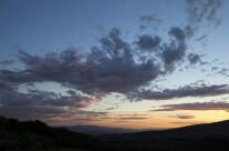 tramonto sulla vallata